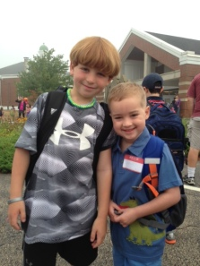 John and Copper 1st day 1st grade