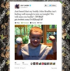 Jon Lester's Tweet