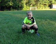 First soccer practice. Twisters.