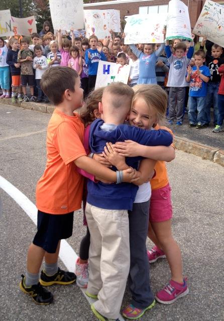 Classmate Group Hug