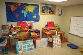 Our new desks in the art corner