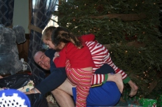 Pig pile on Uncle Andrew