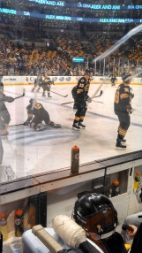 action on the ice