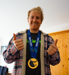 Olympic Gold Medalist Ted Ligety showing JBT support