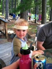John with the headband at the Island